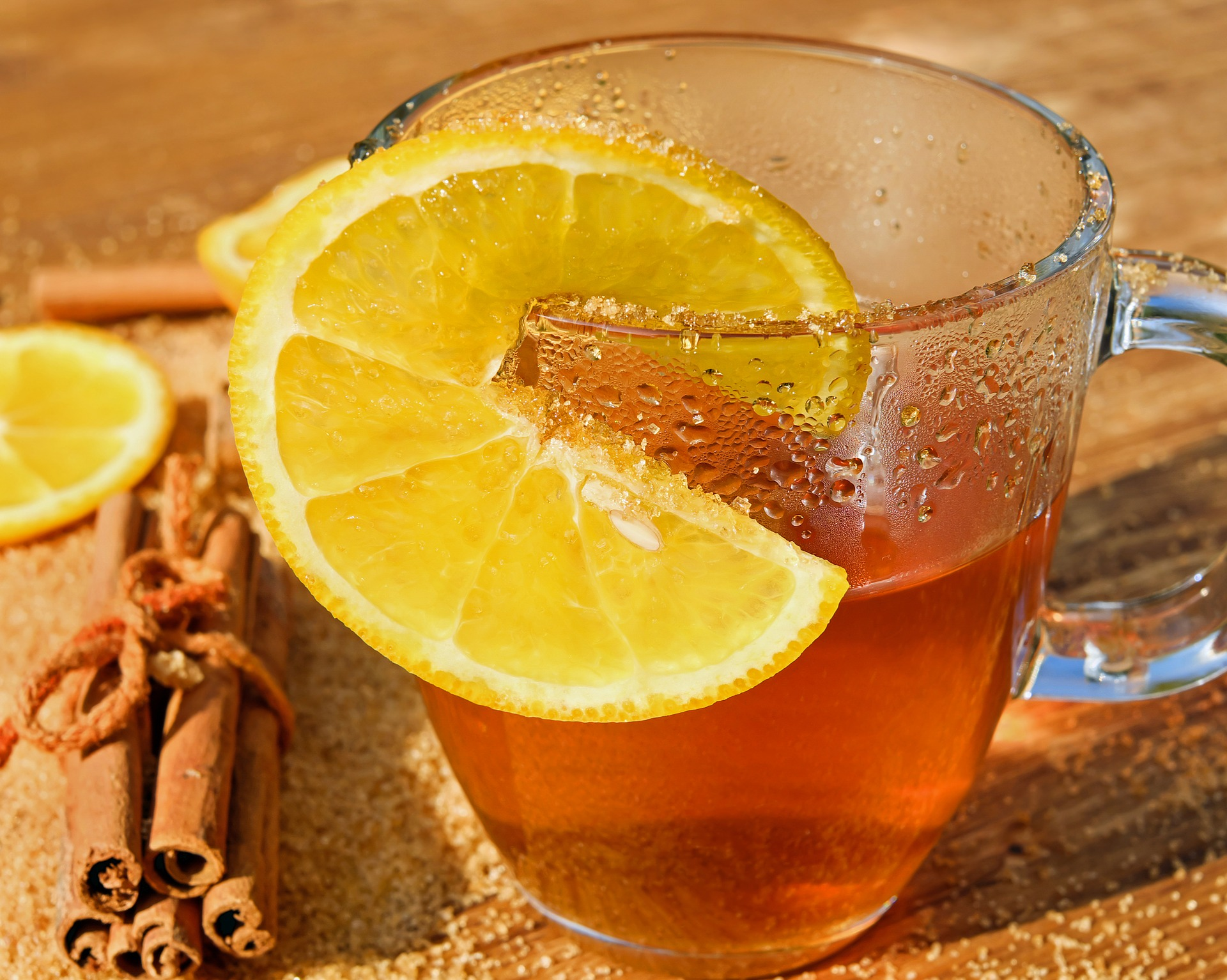 cinnamon and lemon to lift your mood